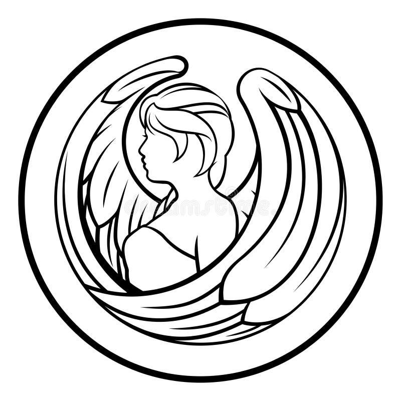 Le zodiaque signe la Vierge illustration stock