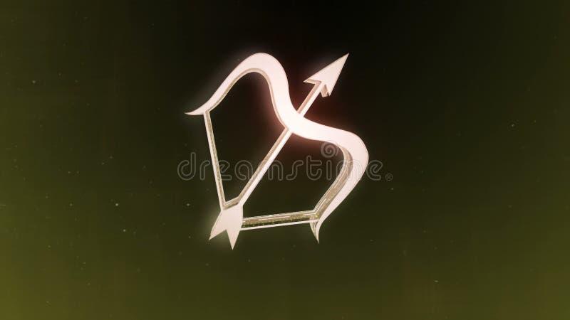 Le zodiaque signe le Sagittaire et le beau fond pour des présentations, introduction visuelle, horoscope, films, transition, titr photographie stock libre de droits