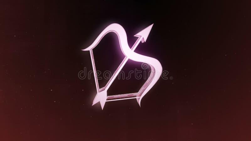 Le zodiaque signe le Sagittaire et le beau fond pour des présentations, introduction visuelle, horoscope, films, transition, titr illustration de vecteur