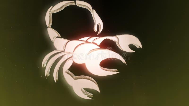 Le zodiaque signe le Scorpion et le beau fond pour des présentations, introduction visuelle, horoscope, films, transition, titres illustration stock