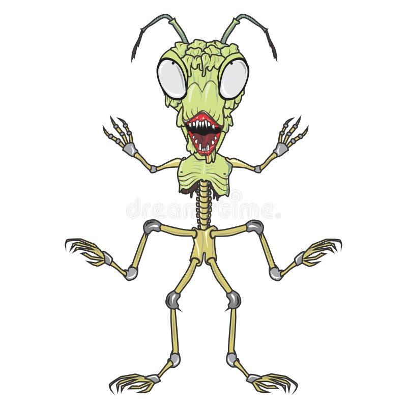 Le zombi branche cartoon3 sur table d'écoute images libres de droits