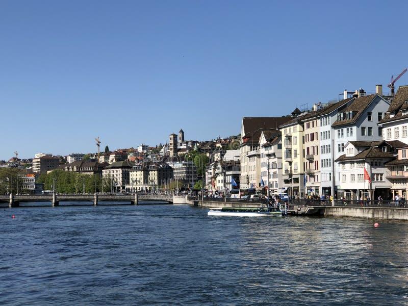 Le zur Meisen - maison de Zunfthaus de guilde dans le quart de Lindenhof à Zurich images libres de droits
