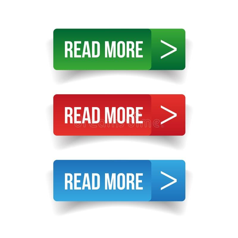 Lea más sistema del botón libre illustration