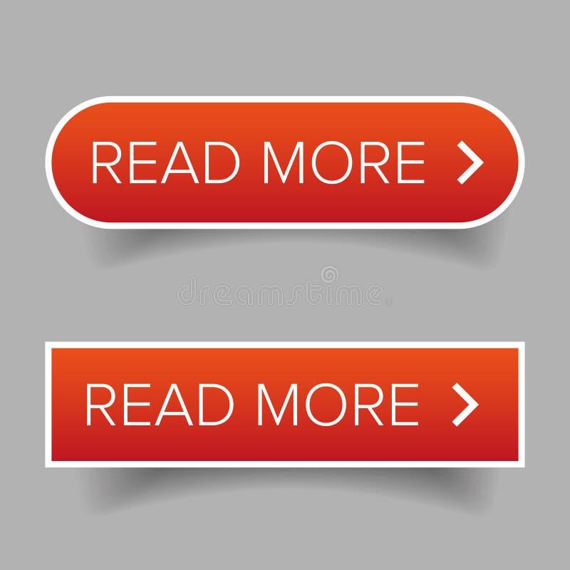 Lea más vector del botón ilustración del vector