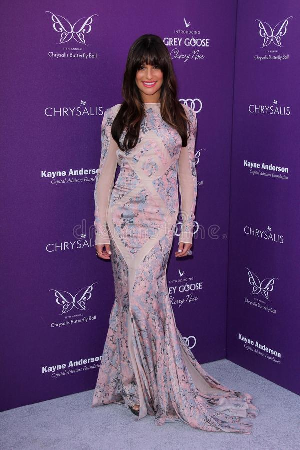 Lea Michele At The 2012 Chrysalis Butterfly Ball, Private Location, Los Angeles, CA 06-09-12 Editorial Image
