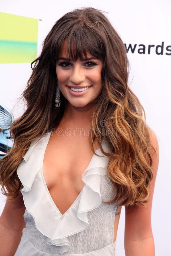 Lea Michele. At the 2012 Do Something Awards, Barker Hangar, Santa Monica, CA 08-19-12 stock image