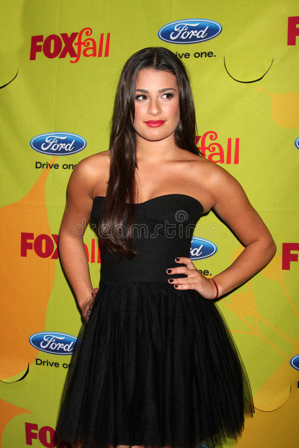 Lea Michele. Arriving at the FOX-Fall Eco-Casino Party at BOA Steakhouse in West Los Angeles, CA on September 14, 2009 stock images