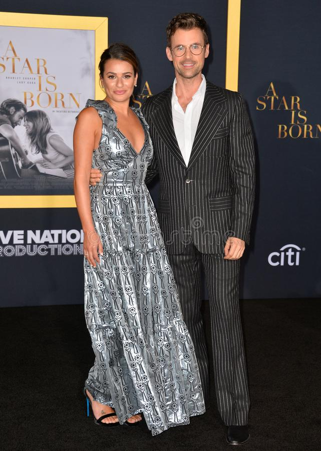Lea Michele & Guest royalty-vrije stock fotografie