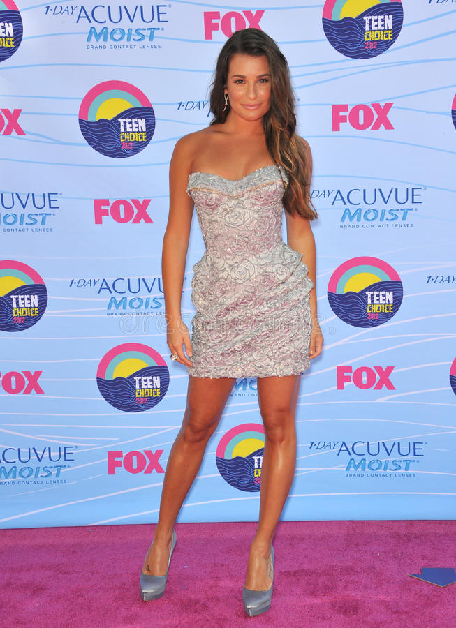 Lea Michelle. Glee star Lea Michele at the 2012 Teen Choice Awards at the Gibson Amphitheatre, Universal City. July 23, 2012 Los Angeles, CA Picture: Paul Smith royalty free stock image