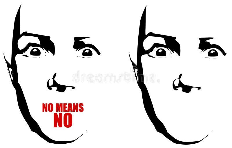 Lea mis labios - ningún No. de los medios ilustración del vector