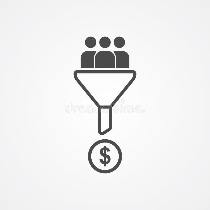 Lead conversion vector icon sign symbol vector illustration