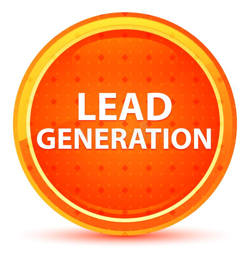 Lead Generation Natural Orange Round Button. Lead Generation Isolated on Natural Orange Round Button vector illustration