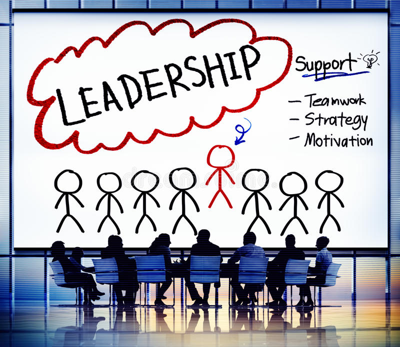 Lead Leadership Chief Team Partnership Concept royalty free illustration