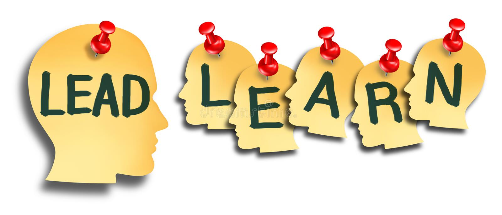 Lead And Learn Education royalty free illustration