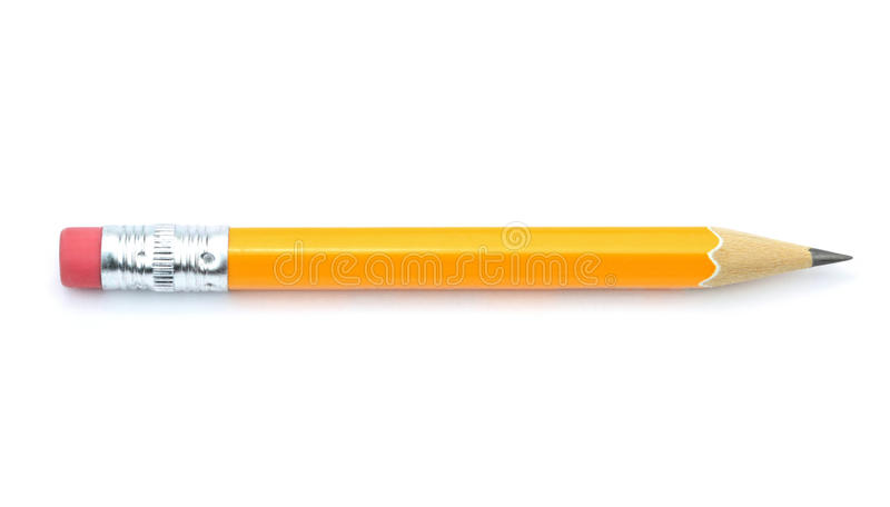 Lead pencil isolated on white background royalty free stock images