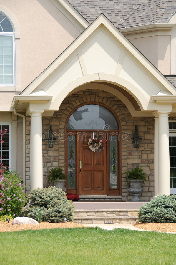 Download Leaded Glass And Wood Entry Door Stock Photo - Image: 5586494
