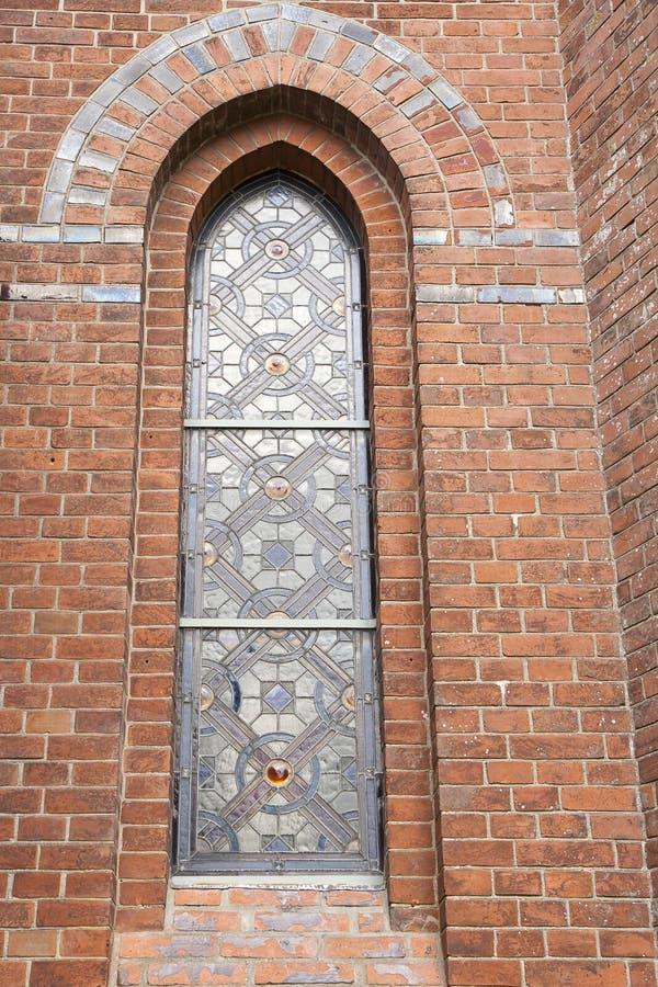 Leaded Venster van de Kerk stock foto's