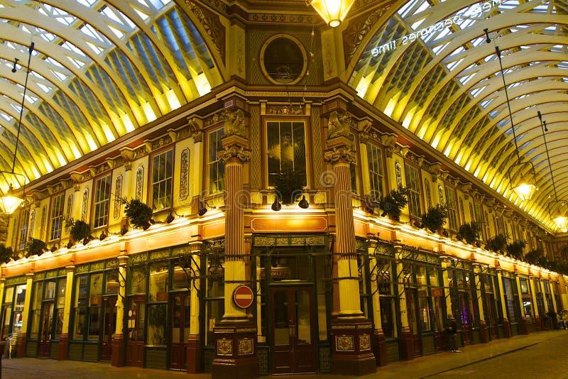 Leadenhall市场在伦敦,英国 库存图片