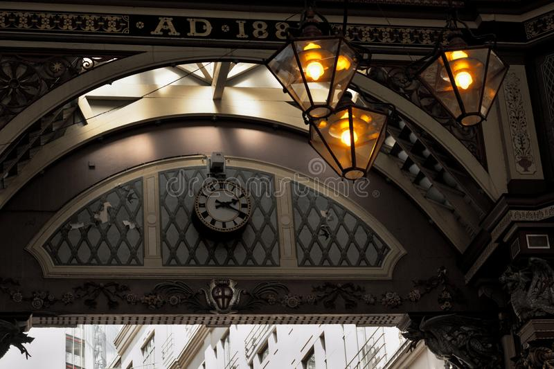 The leadenhall market in afternoon stock images