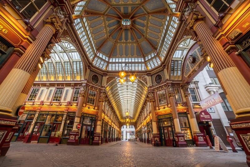 Leadenhall-Markt in der Stadt von London stockbild