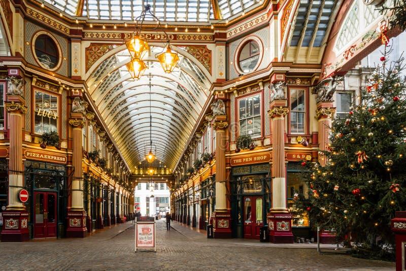 Leadenhallmarkt in Londen November 2015 royalty-vrije stock afbeeldingen