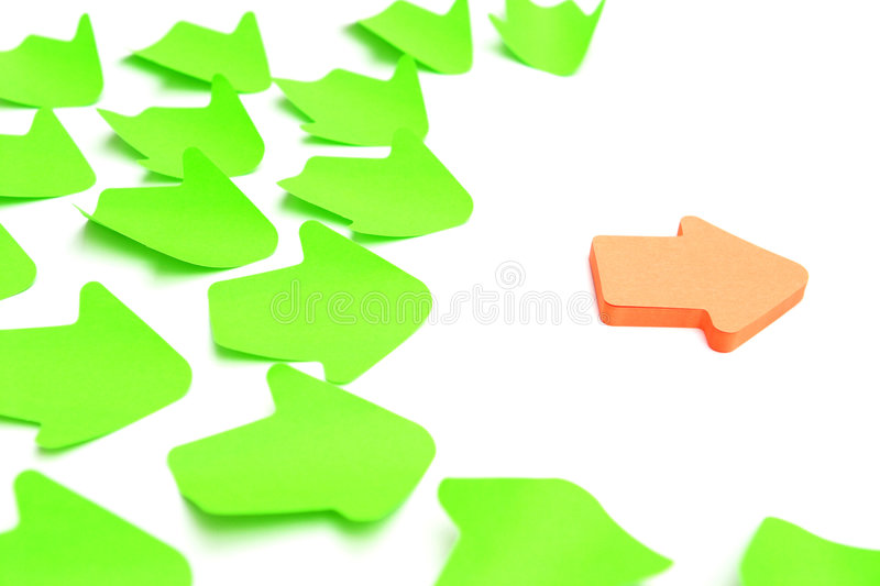 Download The leader! stock photo. Image of arrow, concept, field - 1400882