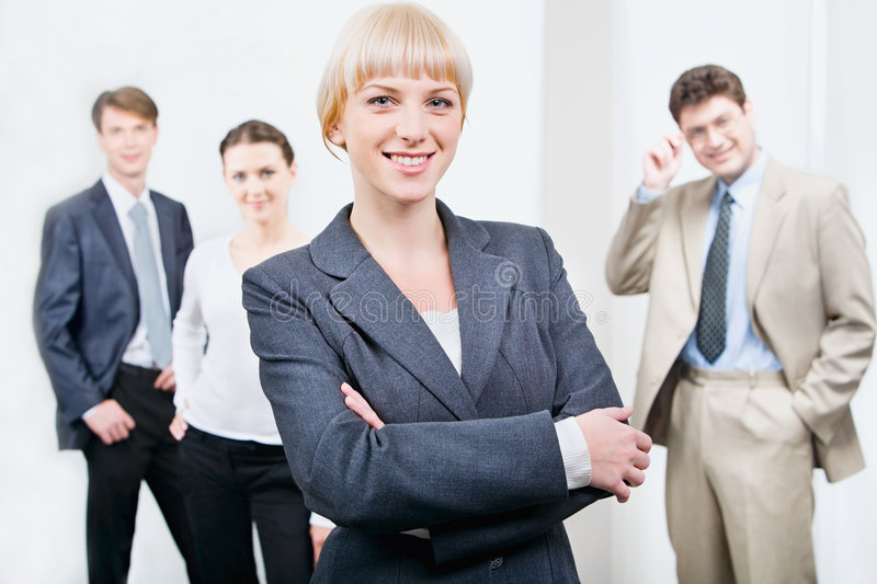 Download Leader stock image. Image of office, background, girl - 3390319
