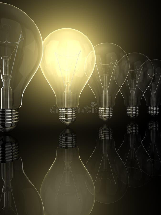 Leader. Yellow shine of bulb, leader royalty free illustration