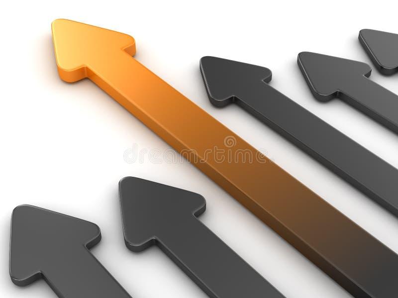 Leader arrow vector illustration