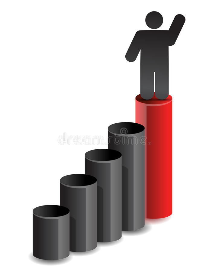 Leader Business Graph Illustration Design Stock Photo