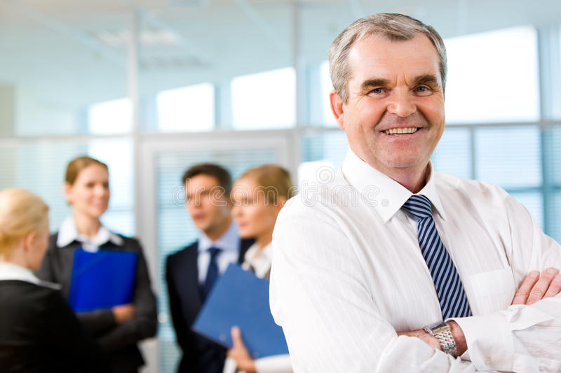 Leader of business team royalty free stock photography