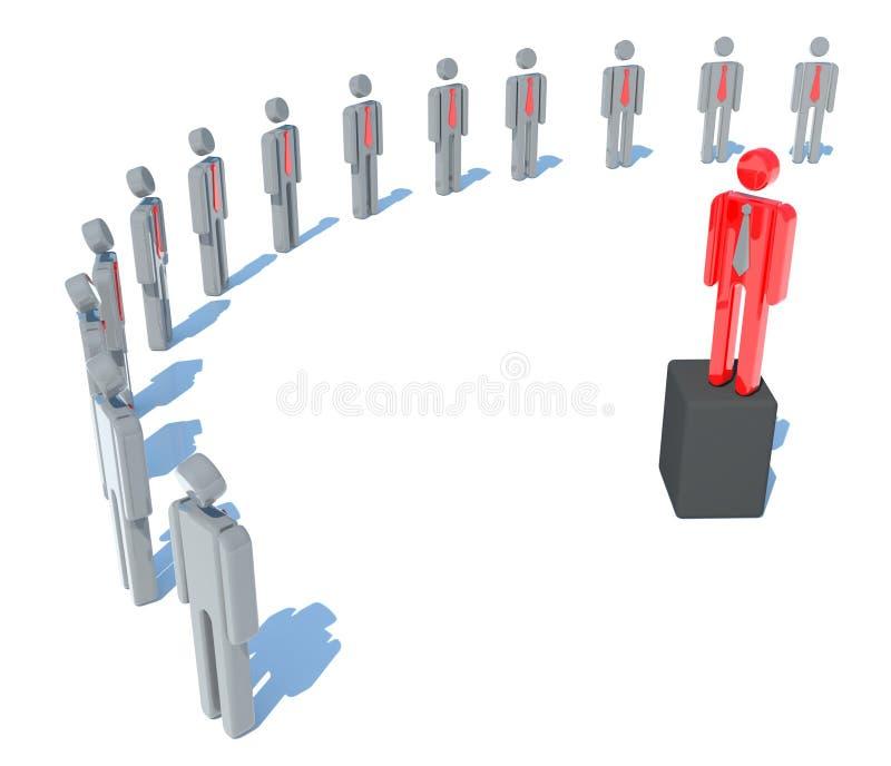 The leader of businessmen vector illustration