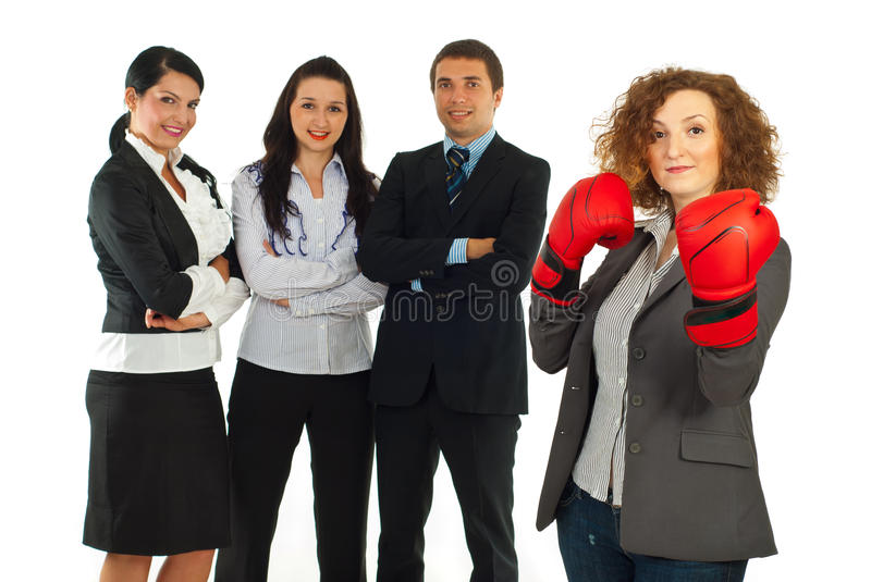 Download Leader Businesswoman And Her Team Stock Image - Image: 20574363