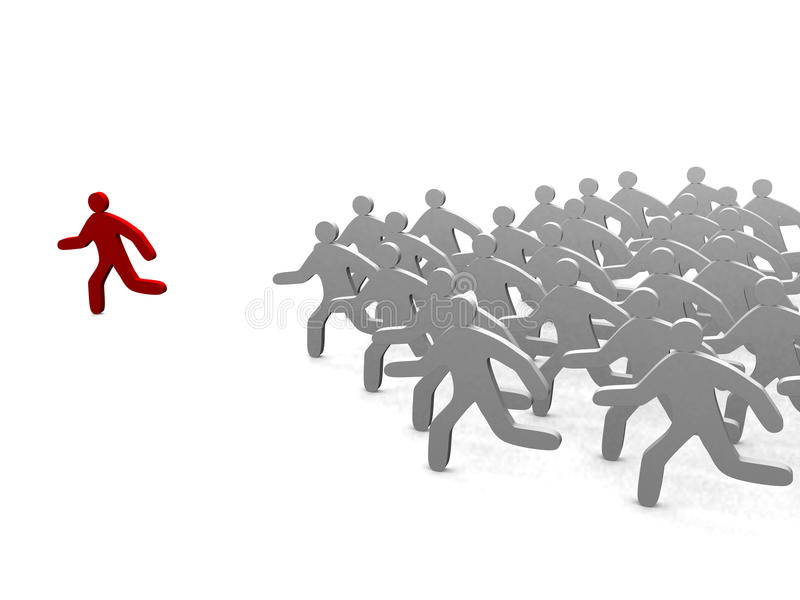 Download Leader Of Competition. Concept. Stock Illustration - Image: 21703478