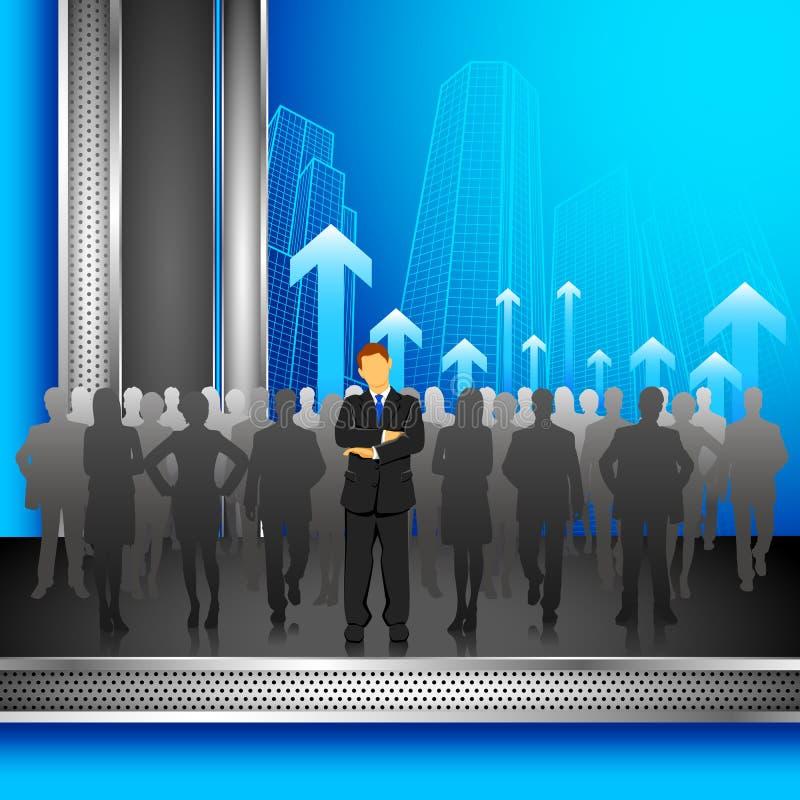 Leader in Crowd stock illustration