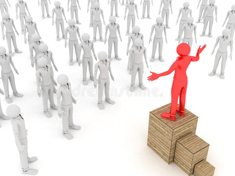 Leader and Crowd royalty free stock image