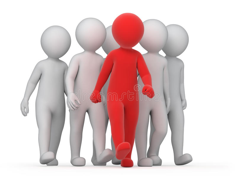 Leader and a crowd stock illustration