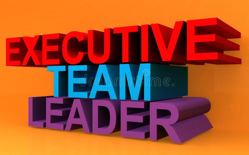 Leader del team esecutivo in arancione royalty illustrazione gratis