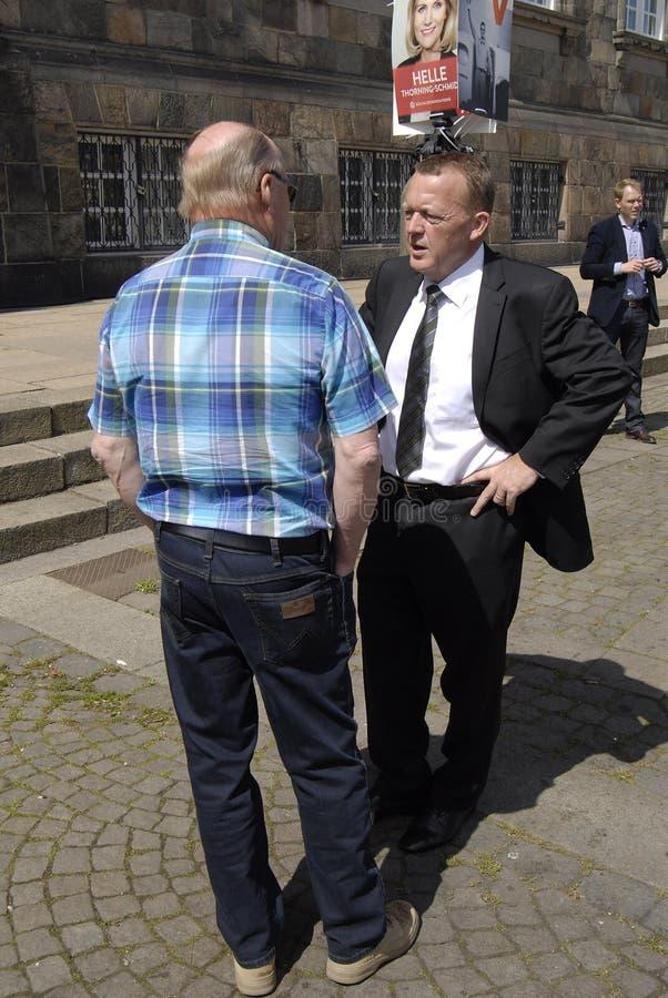 LEADER DELL'OPPOSIZIONE LARS LOKKE RASMUSSEN fotografia stock