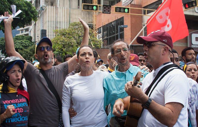 Leader dell'opposizione venezuelano Maria Corina Machado fotografia stock