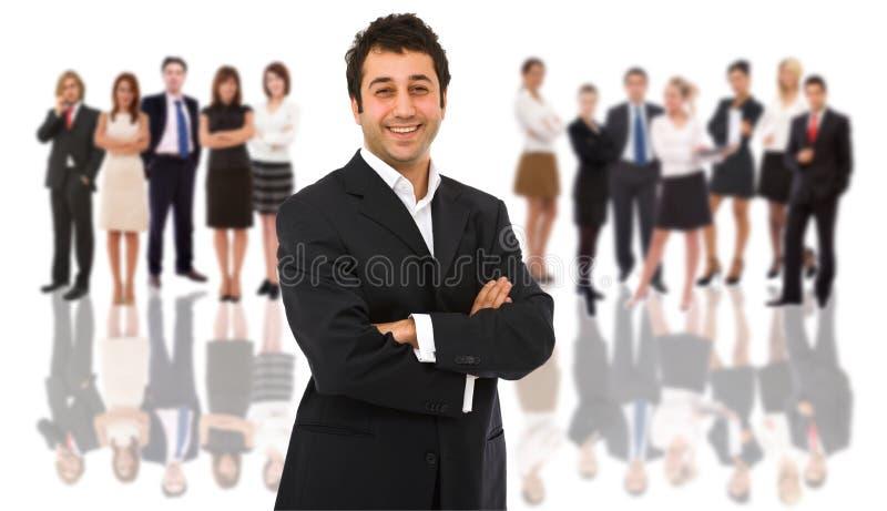 Leader della squadra di affari fotografia stock