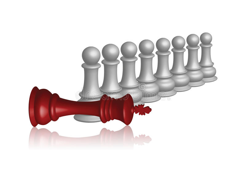 Download Leader down stock illustration. Illustration of competition - 21467180