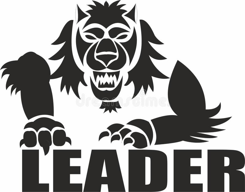Authority of a leader. The leader is the leader, the first one going ahead is a person in a group who enjoys great, recognized authority, possessing influence vector illustration