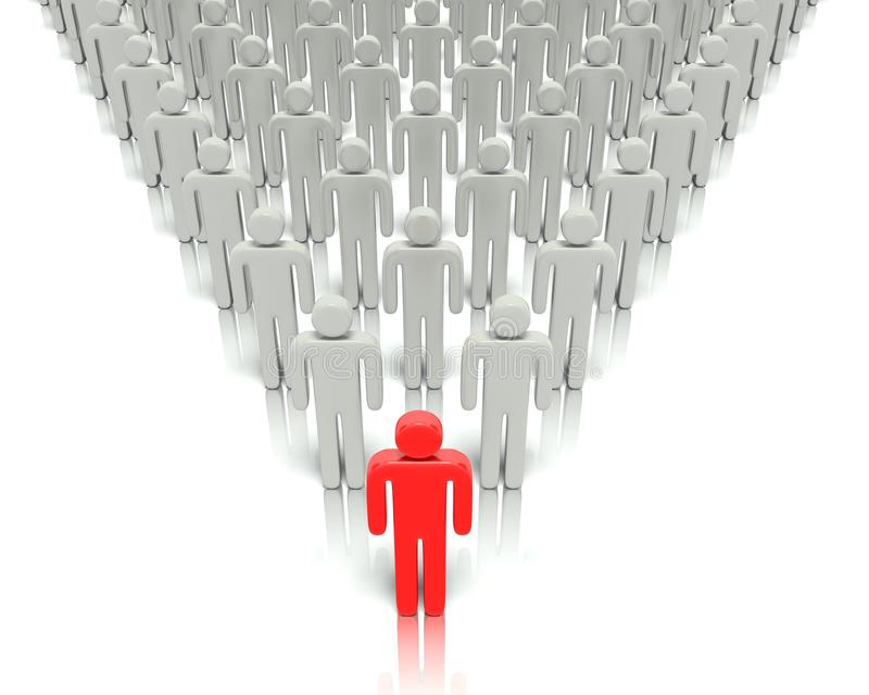 Download Leader In Front Of A Group People. Stock Illustration - Image: 31905150