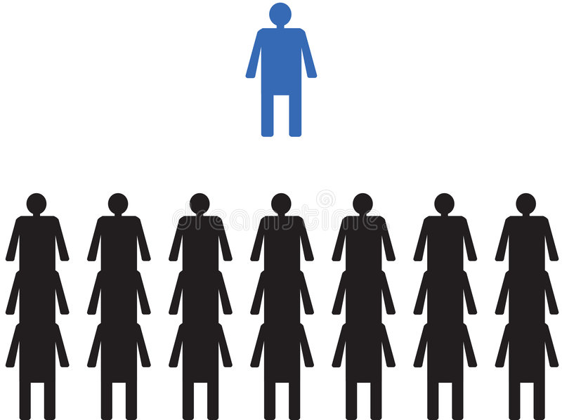 Download Leader In Front Of His Coworkers Stock Vector - Image: 3629364