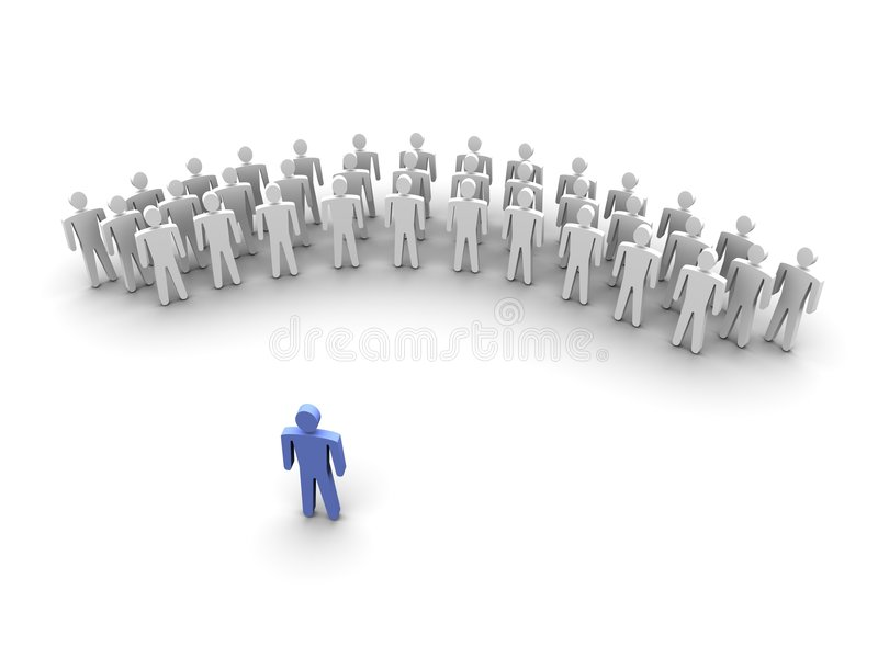 Download Leader In Front Of His Team Stock Illustration - Image: 6834499