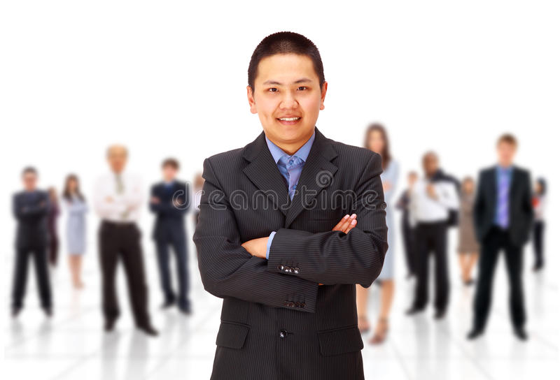 Download Leader and hes team stock photo. Image of network, diversity - 18739318