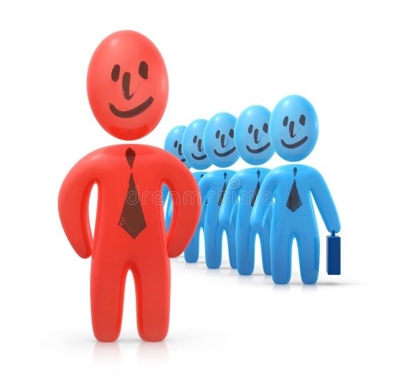 Leader an his team stock illustration
