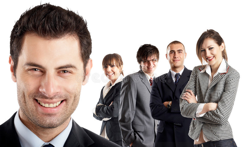 Leader and his team royalty free stock image