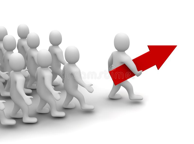 Leader On His Way To Success Royalty Free Stock Photography